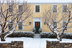 Old Colonial-style Home after Fresh Snowfall, Concord, MA