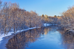 Concord River after Fresh Snowfall, Concord, MA