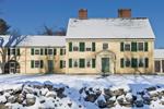 Major John Buttrick House in Winter, Built 1715, Minute Man National Historic Park, Concord MA