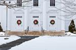 Three Doors with Wreaths, First Congregational Church of Holliston, United Church of Christ, Holliston, MA