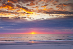 Sunrise over Beach at Assateague Island National Seashore, Assateague Island, MD