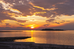 Sunset on Sinepuxent Bay and Great Egging Island, Assateague Island National Seashore, Assateague Island, MD