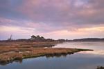 Sunset over Salt Marshes and Sinepuxent Bay, Assateague Island National Seashore, Assateague Island, MD