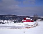 New England Farm Scene in Winter, North Canton, CT