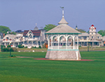 Gazebo and Victorian Houses at Ocean Park, Martha's Vineyard, Oak Bluffs, MA