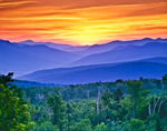 Sunrise Over Mount Washington and White Mountains, Woodstock, NH