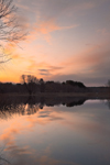 Sunrise over Sudbury River, Great Meadows National Wildlife Refuge, Sudbury and Wayland Town Line, MA