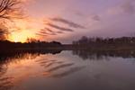 Sunrise over Sudbury River, Great Meadows National Wildlife Refuge, Sudbury and Wayland Town Line, MA