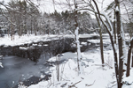 Horseshoe Pond and Surrounding Forest in Winter, Fitzwilliam, NH