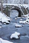 Keystone Bridge and Swift River in Winter, Quabbin Reservation, New Salem, MA