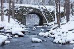 Keystone Bridge and Swift River in Winter, Quabbin Reservation, New Salem, MA
