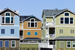 Colorful Houses at The Villas at Corolla Bay, Outer Banks, Corolla, NC