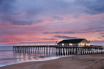 Kitty Hawk Fishing Pier and Beach at Sunrise, Outer Banks, Kitty Hawk, NC