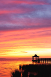 Boardwalk at Sunset Overlooking Kitty Hawk Bay, Outer Banks, Kitty Hawk, North Carolina