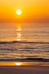 Sunrise over Beach and Atlantic Ocean, Assateague Island National Seashore, Assateague Island, MD