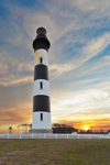 Bodie Island Lighthouse at Sunset, Cape Hatteras National Seashore, Outer Banks, Bodie Island, NC