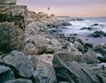 Rugged Rocky Coastline and Portland Head Light in Winter, Fort Williams Park, Cape Elizabeth, ME