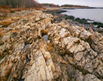 Jagged Rocks along Rugged Coastline at Fort Foster, Kittery, ME