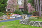 Stone Walls and Spring Flowers at Country Home, Stonington, CT