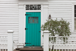 Turquoise Door in White House, Stonington Borough, Stonington, CT