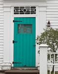 Turquoise Door in White House, Stonington Borough, Stonington, CT