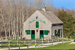 Horse Barn at Frog Hollow Farm with Split-rail Fence, Westport, MA