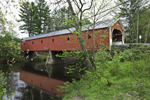Cresson Bridge (Sawyers Crossing Bridge) in Spring, Built 1859, Ashuelot River, Swanzey, NH