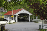Ashuelot Covered Bridge over Ashuelot River in Spring, (Built 1864), Village of Ashuelot, Winchester, NH