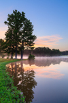 Light Fog and Reflections on Minton Lake at Sunrise, Lonoke County, Sylvania, AR