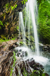 Close Up View of Grotto Falls on Roaring Fork Creek, Trillium Gap Trail off Roaring Fork Motor Trail, Great Smoky Mountains National Park, TN
