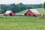 Red Barns and Fields off Lookout Mountain Scenic Highway near Villinow, GA