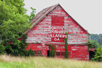 Old Red Barn owned by Howard Shahan, Walker County, Chattahoochee National Forest, Villaow GA