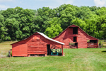 Two Red Barns, Chattahoochee National Forest near New and Farmersville, Chattooga County, GA