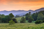 Mountains of Wolfpen Ridge and Pastures at Sunset, Towns County, Chatahoochee National Forest, near Macedonia, GA