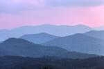 Mountain Layers at Sunset, View of Nantahala Mountains and Nantahala National Forest, Macon County, Franklin, NC