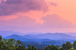 Mountain Layers under Dramatic Skies at Sunset, View of Nantahala Mountains and Nantahala National Forest, Macon County, Franklin, NC