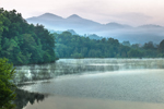 Early Morning Fog and Mist on Hiwassee River, Wolfpen Ridge in Background, Chattahoochee National Forest, near Macedonia, GA