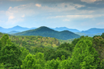 View of Mountains from Popcorn Overlook on Lookout Mountain Scenic Highway, Chattahoochee National Forest, Rabun County, GA