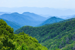 View of Great Smoky Mountains from Overlook on Newfound Gap Road, Great Smoky Mountains National Park, NC