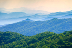 Mountain Layers, View of Alarka Mountains and Nantahala National Forest from Bunches Bald Overlook on Blue Ridge Parkway near Cherokee, NC