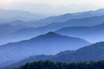Mountain Layers, View of Alarka Mountains and Nantahala National Forest from Lickstone Ridge Overlook on Blue Ridge Parkway near Cherokee, NC