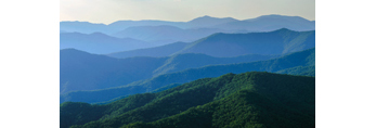 Mountain Layers, View of Great Smoky Mountains National Park from Mile High Overlook, Balsam Mountain Road, off Blue Ridge Parkway, NC