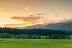 Sunrise over Fields and Mountains at Cades Cove, Great Smoky Mountains National Park, TN