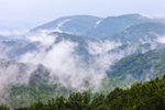 """""""Smoke"""" over Mountains, View from Overlook on Little River Road, Great Smoky Mountains National Park, TN"""