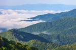 """Smoke"" over Mountains, View from Men of Measure Overlook on Newfound Gap Road, Great Smoky Mountains National Park, NC"