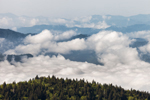 Clouds and Mountains, View from  Clingman's Dome, Great Smoky Mountains National Park, TN
