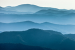 Mountain Layers in Early Morning, View from Clingman's Dome Lot, Great Smoky Mountains National Park, NC