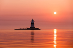 Latimer Reef Light at Sunrise, Fishers Island Sound, Long Island, Southold, NY