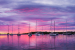 Dramatic Sunset over Boats in Cuttyhunk Pond, Cuttyhunk Island, Elizabeth Islands, Town of Gosnold, MA