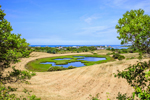 Panoramic View of Ponds, Marshes, Hayed Fields, and Homes, Town of New Shoreham, Block Island, RI